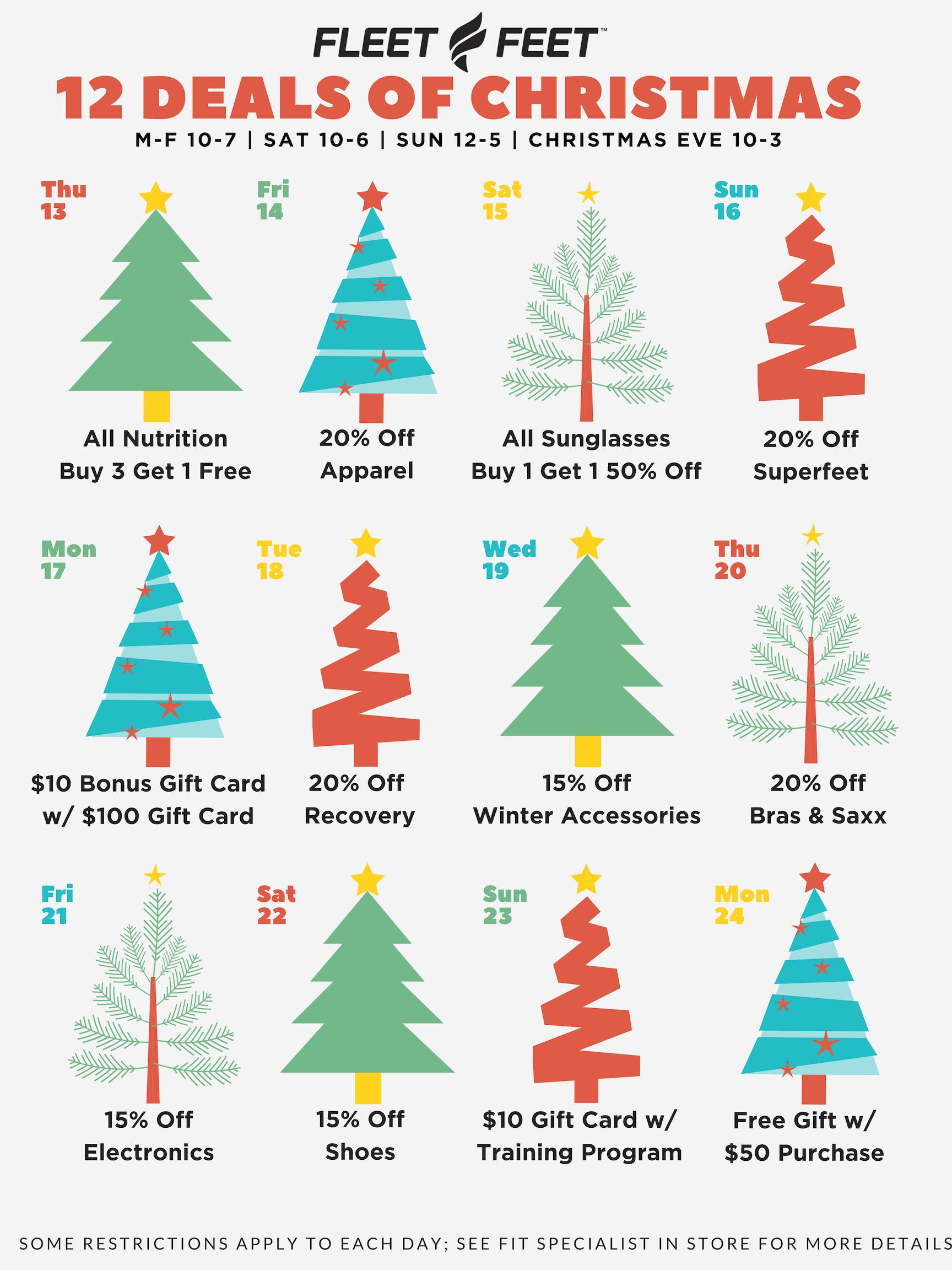 12 Deals of Christmas - Fleet Feet Bloomington
